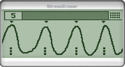 Good Waves. When you're relaxed, your wave becomes smooth and consistent, like a sine wave: StressEraser