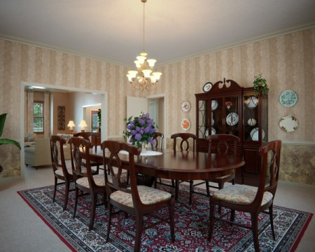 Dining room... before: © 2013 RM Design