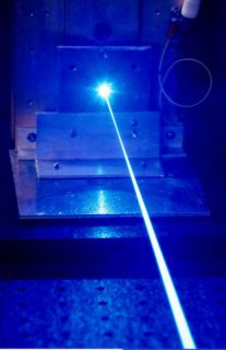 Shooting lasers much like this one: For Science!