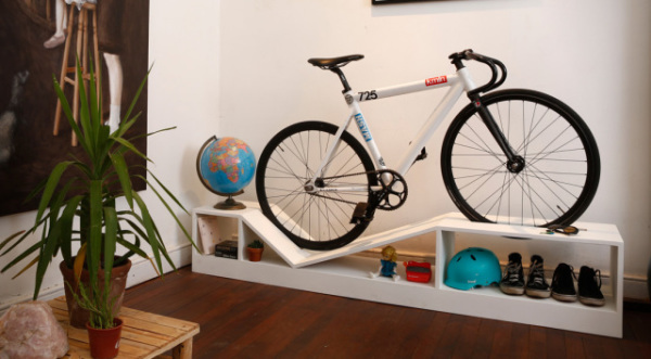 Furniture Doubles As A Bike Rack
