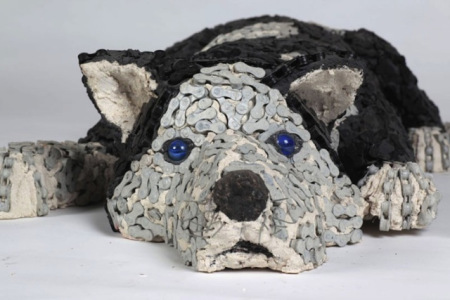 "Nirit Levav Dog Sculptures - ""Billy"""