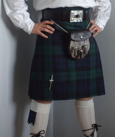 Black Watch Kilt (Public Domain Image)