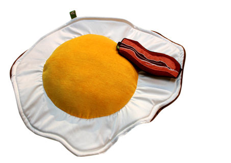 Egg and Bacon Breakfast Set - Pillow and Eye Mask: Sunny Side Up