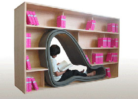 Bookshelf with Body Room