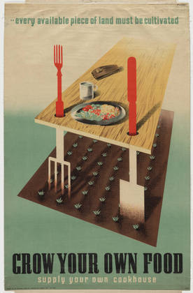 Grow Your Own Food, Abram Games, 1942:  1942, part of the MoMA collection, image via MoMA.org