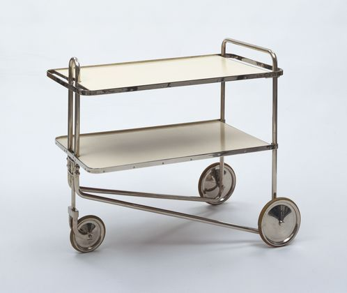 Tea Cart (model B54), Marcel Breuer, 1928:  1928, part of the MoMA collection, image via MoMA.org