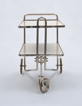 Tea Cart (model B54), Marcel Breuer, 1928: © 1928, part of the MoMA collection, image via MoMA.org
