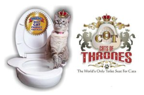 Cats of Throwns Cat Toilet Seat