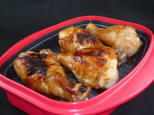Grilled Chicken made in Mcrohearth Grill Pan