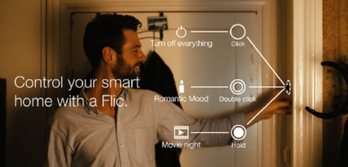 Control your home with the click of a Flic.