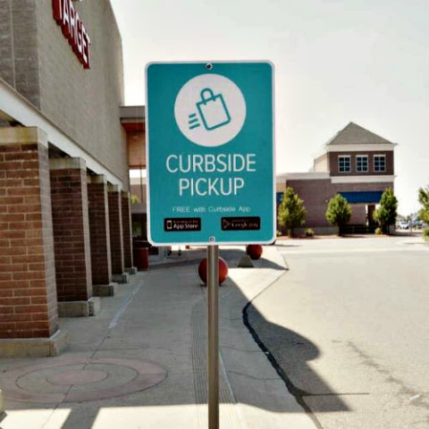 Curbside App Allows You to Shop Locally & Receive Packages Without Leaving Your Car: Curbside App image via Curbside Facebook