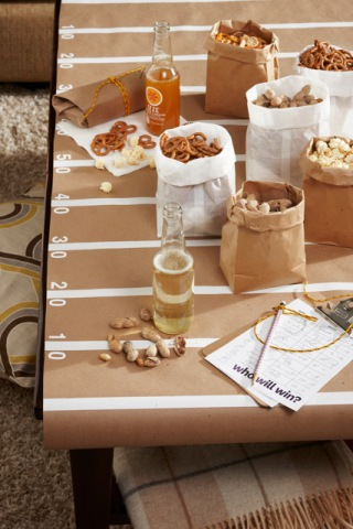 DIY Craft Paper Football Field Table Cover