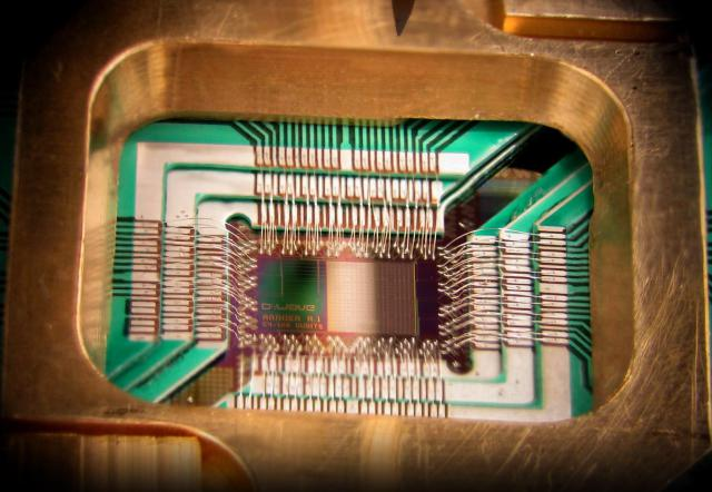 Quantum computing chip: Canadian company D-Wave is one of few working towards realizing an actual quantum computer.