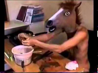 Dancing Japanese Man Wearing Horse Head Mask Cooks Wild Mushrooms: What the Seriously F*%#??
