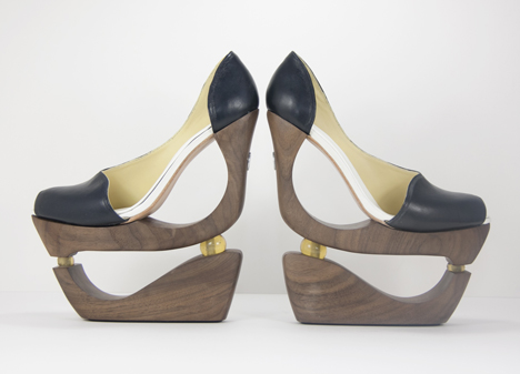 Fado's  Wooden heels: Source: Dezeen