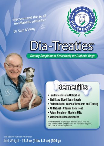Dia-Treaties, natural supplements for diabetic dogs
