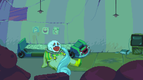 There's some twisted stuff in Dropsy's dreamworld.