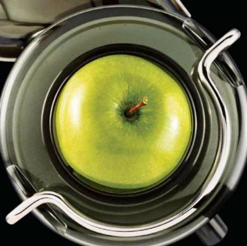 Breville Electric Juicer: 3-inch-wide feeder chute takes whole apples