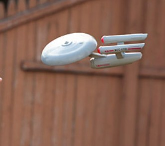 To boldly float through backyards where no... um... starship disc thing has ever gone before!