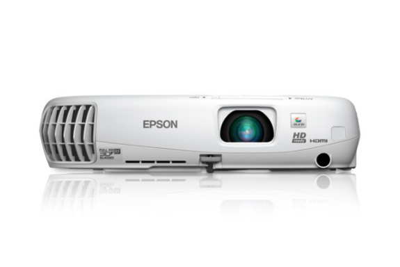 Front view of the Epson Powerlite 750HD