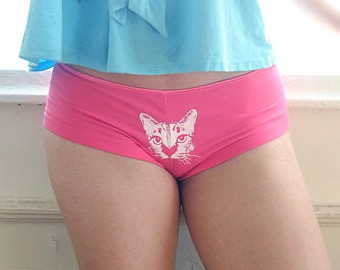 Etsy Cat Face Underwear