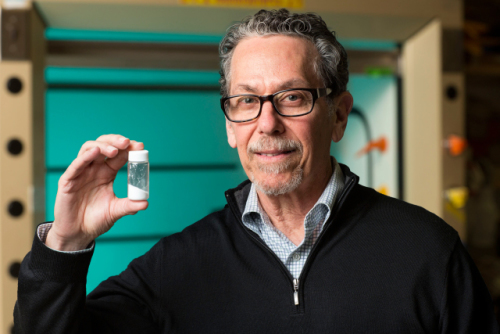"""Photo provided by The Salk Institute of Biological Studies/2015: """"This pill is like an imaginary meal,"""" says Ronald Evans, director of Salk's Gene Expression Laboratory."""
