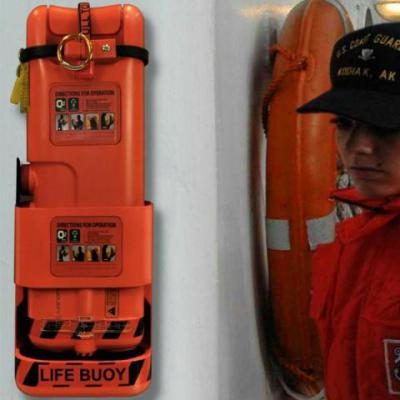 Longreach Buoyancy Deploment System station on Coast Guard boat.: James Dyson 2010 Design Award Winner