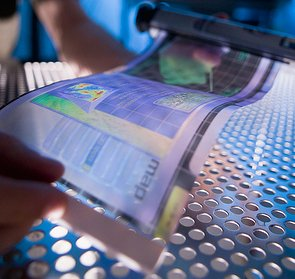 Flexible display: graphene could make rollable screens like this a reality in the near future. Image by RDECOM.