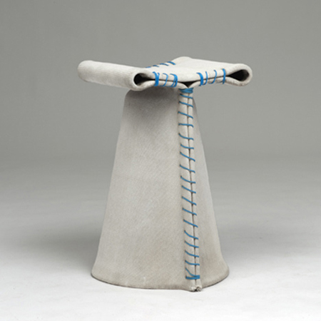 Concrete Cloth Stool: Source:Florian Schmidt-Dezeen.com