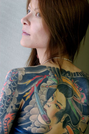 Full Back Body Girls With Gheisa Japannesse Tattoo Designs