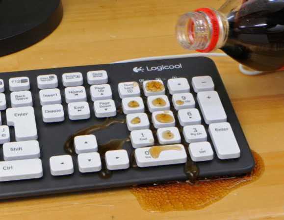 how to clean laptop keyboard after spill