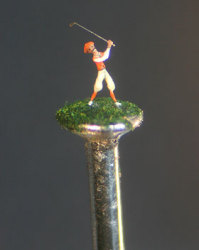 Golfer on Head of a Pin
