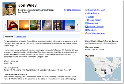 Google Profile example