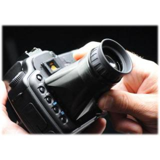 Hoodman Hood Loupe Professional LCD Screen Loupe: Loupe systems such as the Hoodman LCD Screen Loupe can make focusing easier.