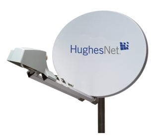 Rooftop Satellite Antenna: ©Hughes Network Systems