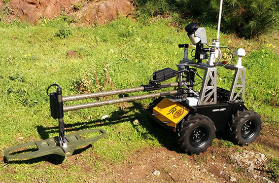 Customized Husky UGV Is Capable Of Detecting Landmines