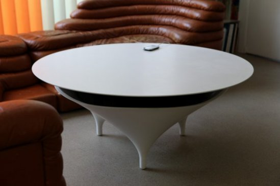 Acoustable, the acoustic table, designed by Jérôme Spriet et Wolfgang Bregentzer