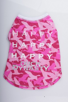 Happy, Happy, Happy Duck Dynasty Pink Camo T-Shirt: image via Quaker Pet Group