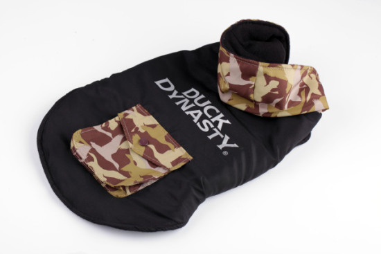 Duck Dynasty Dog Jacket With Hood - Black: image via Quaker Pet Group