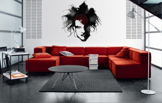 Robert Smith on the Wall