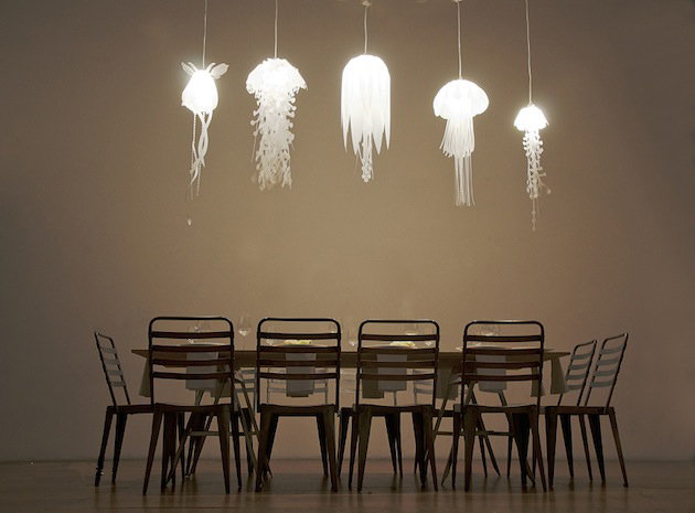 Jellyfish Inspired Medusae Collection Lighting by Roxy Russell