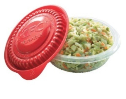 KFC&#039;s reusable containers will roll out in 5 markets in 2011.: image via GreenerPackage.com