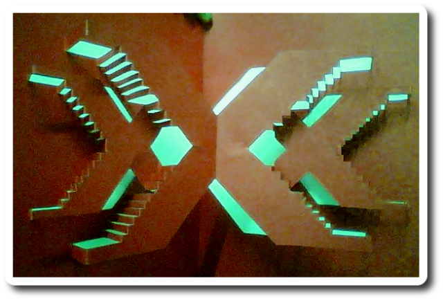 Kirigami: this simple exmaple of kirigami demonstrates the way cuts and folds can alter the physical properties of a 2D material. Image by Bharath Kishore.
