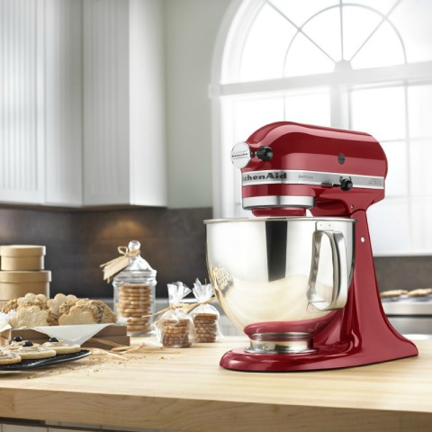 KitchenAid KSM150PSER 5-Qt. Artisan Series Mixer with Pouring Shields