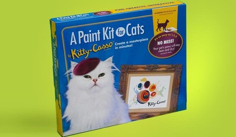 Kitty-Casso paint kit for cats: © Art-Casso