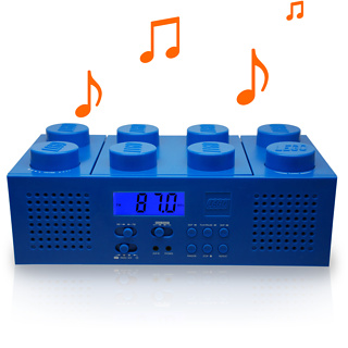 leggo of my lego inspired radio alarm clock and boombox