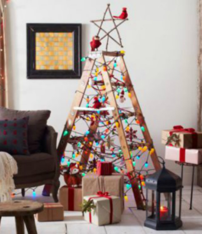ladder tree for christmas