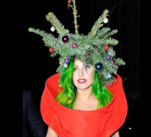 Lady Gaga Christmas Hat