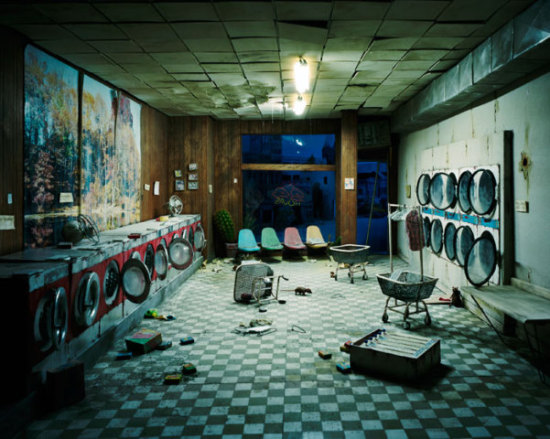 Laundromat at Night - Lori Nix