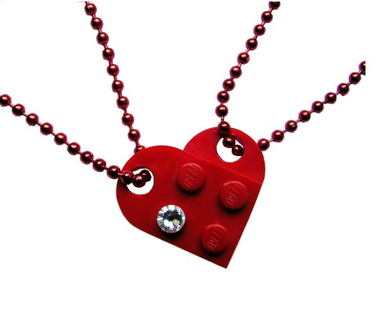 Mademoiselle Alma LEGO Heart Necklace